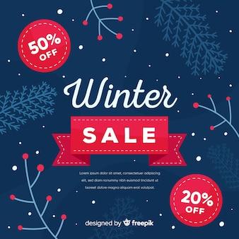 Piękny zimowy skład sprzedaży
