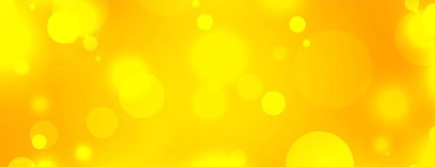 Piękny żółty z efektem światła bokeh