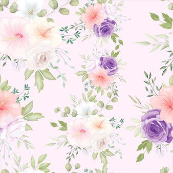 Pięknych, ręcznie rysowane kwiatowy wzór