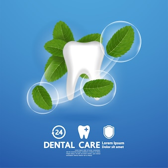 Pielęgnacja stomatologiczna z liściem mięty pieprzowej