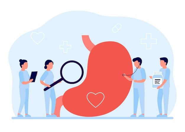 Pielęgnacja żołądka i brzucha, badania kontrolne. medyczna opieka zdrowotna.