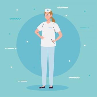 Pielęgniarka z mundurem, pielęgniarka, ilustracji wektorowych pracownika szpitala