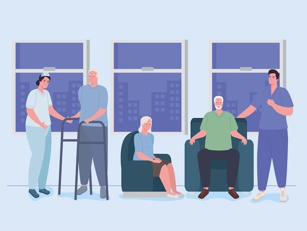 Pielęgniarki geriatrii i osoby starsze