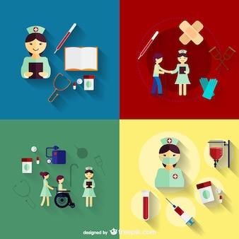 Pielęgniarstwo ikony