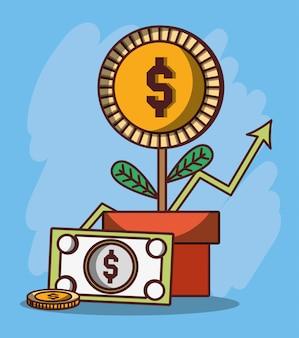 Pieniądze biznes finansowy smartphone analiza banknotów e-mail pieniędzy