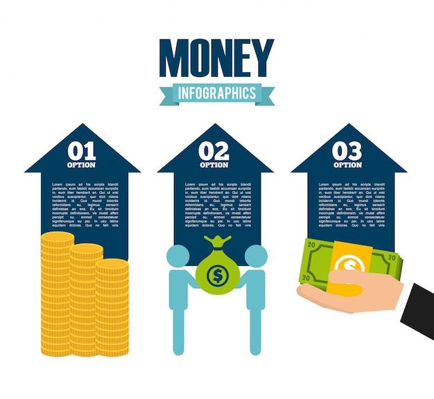 Pieniądze infografiki