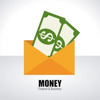 Pieniądze na białym