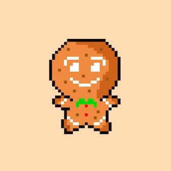 Piernikowy człowiek w stylu pixel art