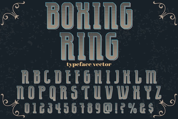 Pierścień bokserski do projektowania etykiet z efektami cienia