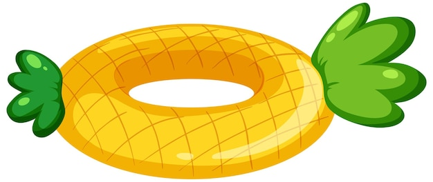Pierścień do pływania wzór ananasa na białym tle