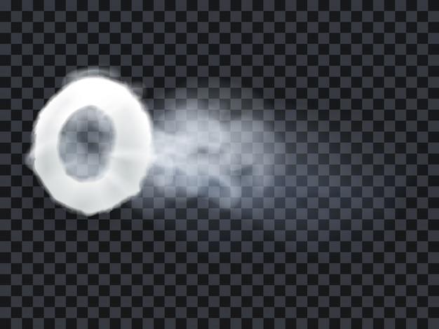Pierścień parowy vape z wydychanym dymem