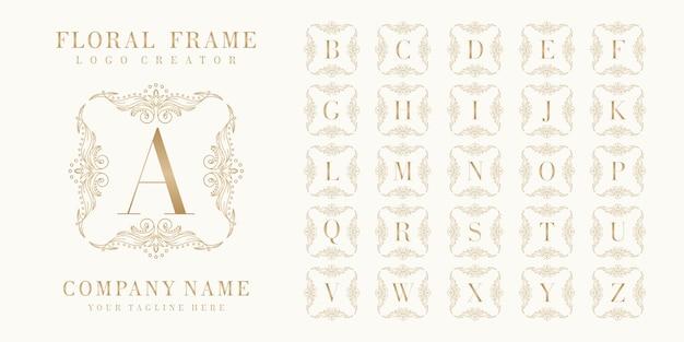 Pierwotny projekt logo bedge z ramą w kwiaty