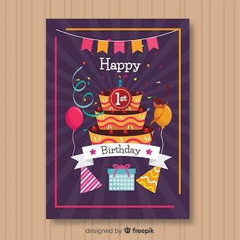 Pierwsza karta z zaproszeniami na urodziny