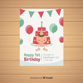Pierwsza kartka urodzinowa