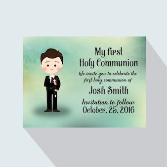 Pierwsza komunia karty zaproszenie