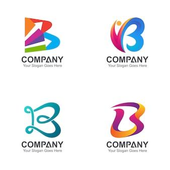 Pierwsza litera b kolekcja logo