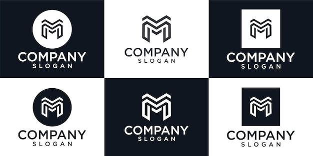 Pierwsza litera m. kreatywne projektowanie logo