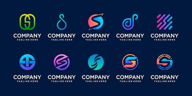 Pierwsza litera s ss logo szablon ikony dla biznesu sportowa technologia motoryzacyjna cyfrowa