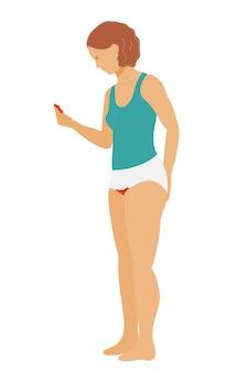 Pierwsza miesiączka nastolatka przestraszona krwawieniami miesiączkowymi i miesiączkowymi
