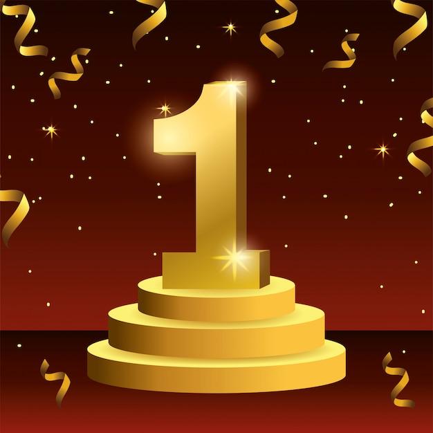 Pierwsza nagroda dla zwycięzcy z konfetti