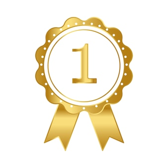 Pierwsza nagroda wektor wstążka nagrody