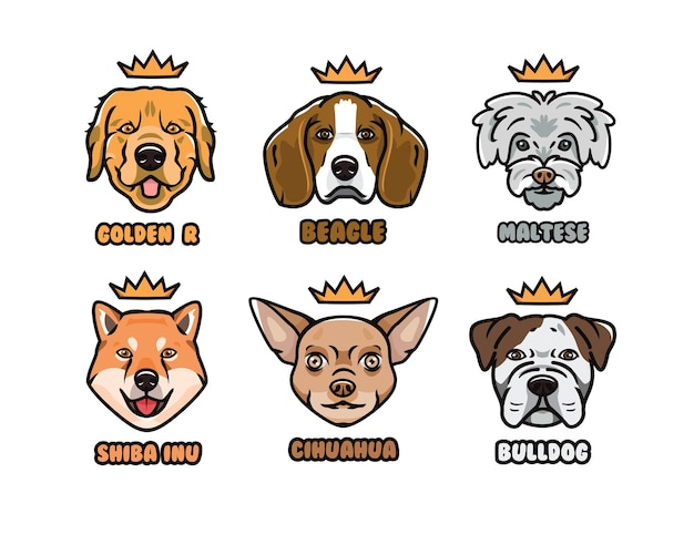 Pies ilustracja wektor kolekcja