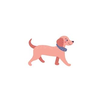 Pies jamnik. ilustracja zwierzęcia domowego.