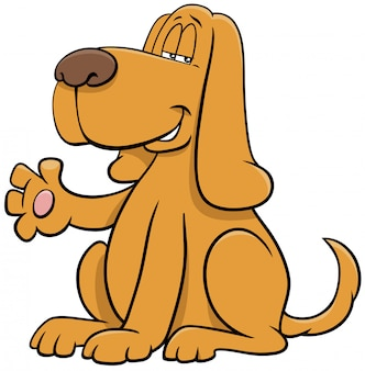 Pies kreskówka postać macha łapa