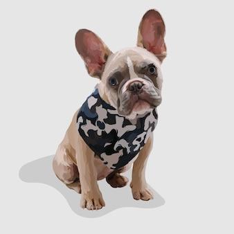 Pies realistyczne ręcznie rysowane ilustracje i wektory