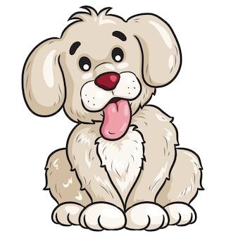 Pies śliczna kreskówka