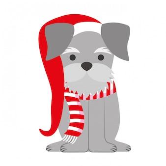 Pies wesołych kartki świąteczne