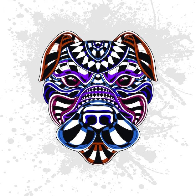 Pies z abstrakcyjny wzór dekoracyjny