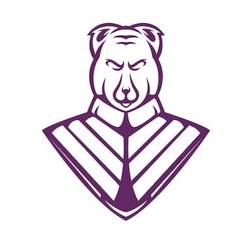 Pies zły kreskówka wektor logo