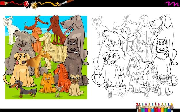 Pies znaków do kolorowania