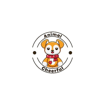 Pies znaków maskotka logo projekt ilustracji wektorowych