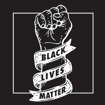 Pięść materii czarnego życia