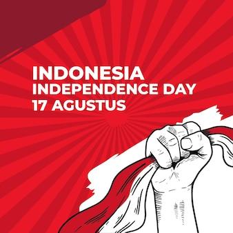 Pięść z okazji dnia niepodległości indonezji