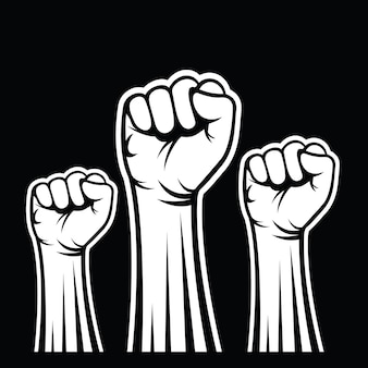 Pięści męskiej dłoni