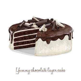 Piętrowe ciasto czekoladowe