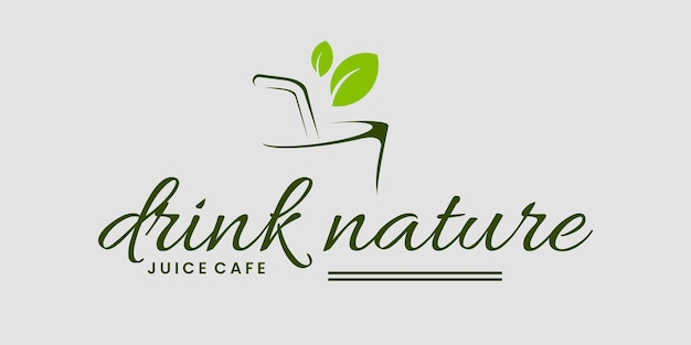 Pij natura herb logo szablon wektor logo wizytówki