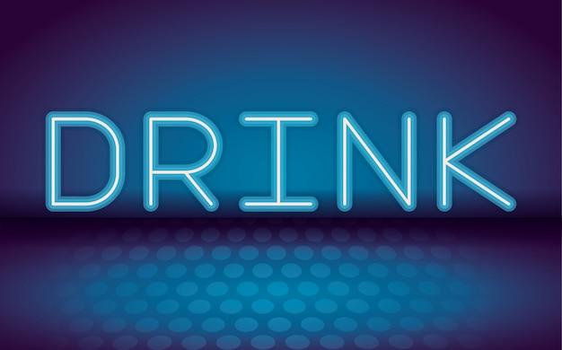 Pij neonowe reklamy