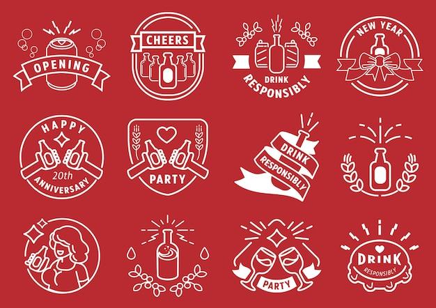 Pij odpowiedzialnie imprezuj projekt linii odznak