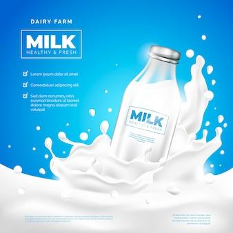 Pij reklamę firmy mleczarskiej