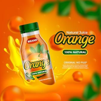 Pij sok pomarańczowy natury reklamowej