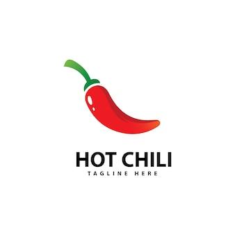 Pikantne chili logo ikona wektor szablon logo red pepper