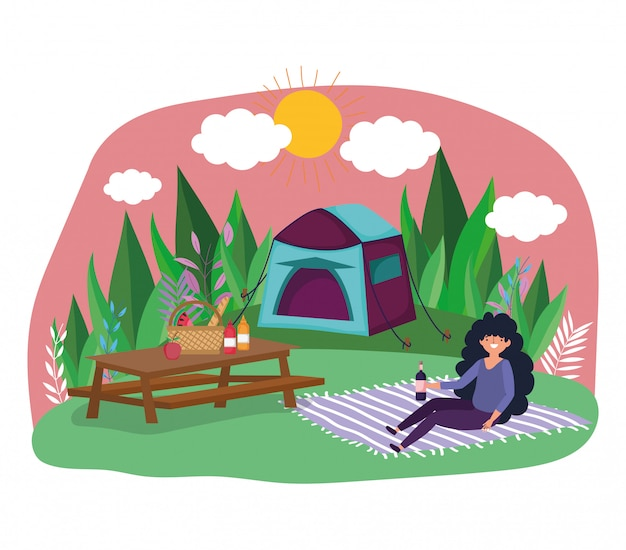 Piknik młodych ludzi w parku