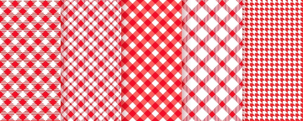 Piknik obrus wzór. tekstura tkaniny w kratkę czerwony materiał w kratę.