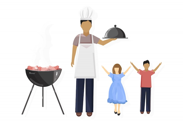 Piknik rodzinny grill i czas wolny