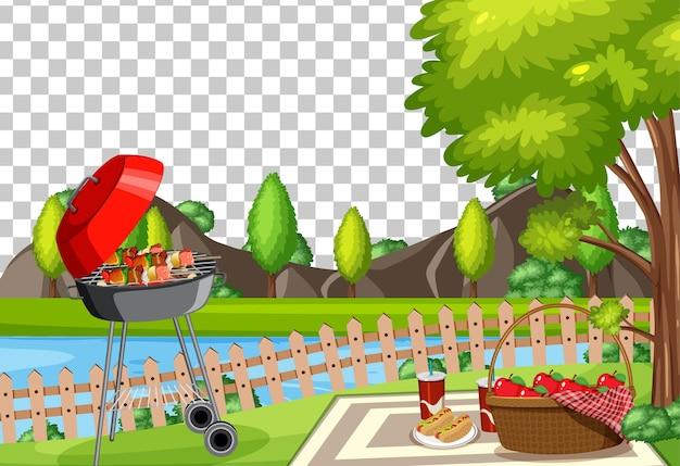 Piknik w parku na przezroczystym tle