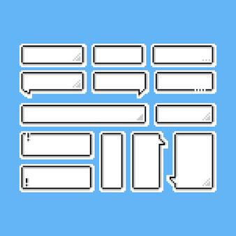 Piksel mowy balony ikona set.8bit.